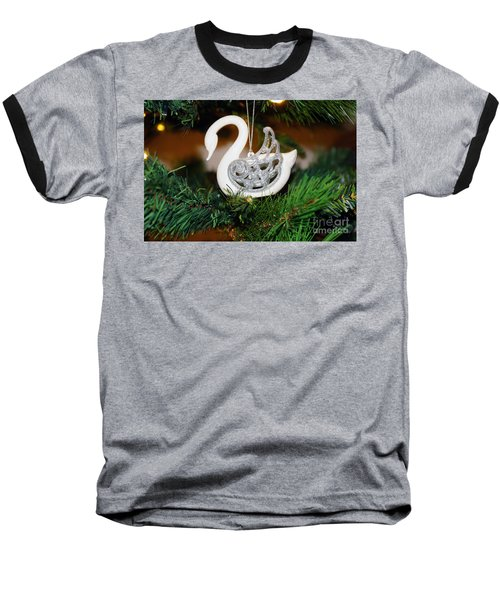 Baseball T-Shirt featuring the photograph Swans A Swimming by Cassandra Buckley