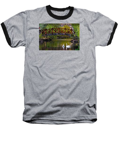 Baseball T-Shirt featuring the photograph Swans At Caughlin Ranch II by Janis Knight