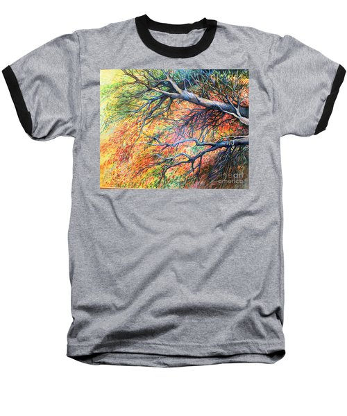 Sway Dancing Trees Baseball T-Shirt by Linda Shackelford