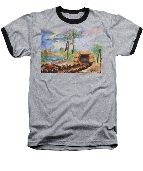 Sweat Lodge Baseball T-Shirt by Ellen Levinson