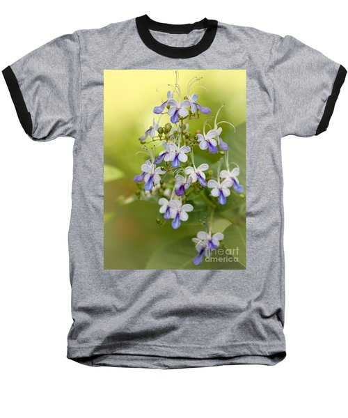 Sweet Butterfly Flowers Baseball T-Shirt