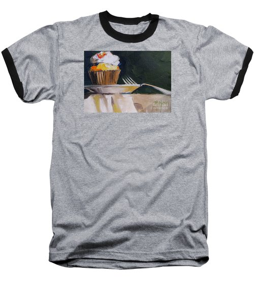 Sweet Cupcake Baseball T-Shirt by Mary Hubley
