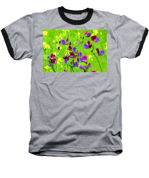 Baseball T-Shirt featuring the photograph Sweet Peas by Byron Varvarigos