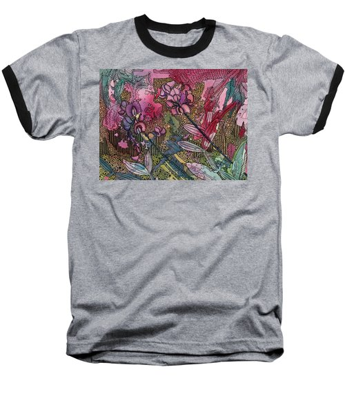 Sweet Peas In Bloom Baseball T-Shirt