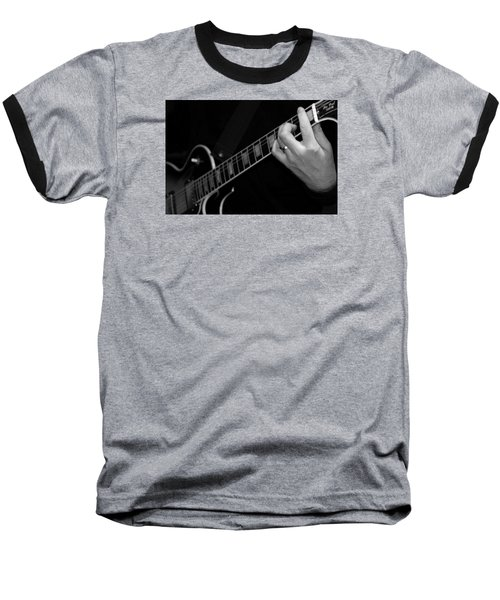 Baseball T-Shirt featuring the photograph Sweet Sounds In Black And White by John Stuart Webbstock