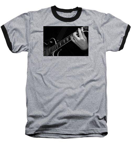 Sweet Sounds In Black And White Baseball T-Shirt by John Stuart Webbstock