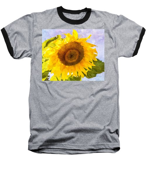 Sweet Sunflower Baseball T-Shirt by Arlene Carmel