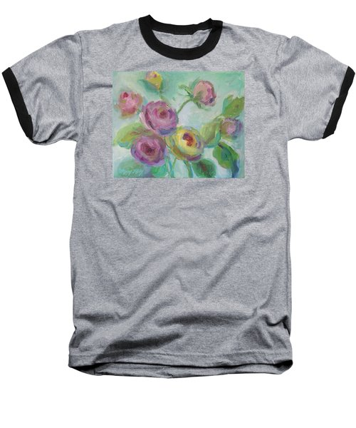 Baseball T-Shirt featuring the painting Sweetness Floral Painting by Mary Wolf