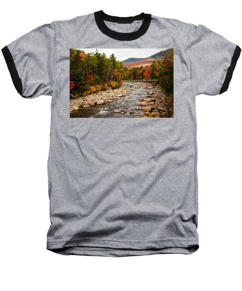 Swift River Painted With Autumns Paint Brush Baseball T-Shirt