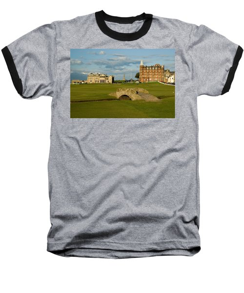 Swilken Bridge Baseball T-Shirt by Jeremy Voisey