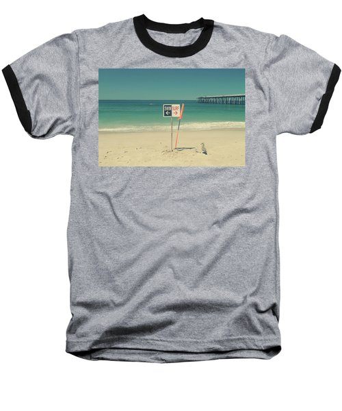 Swim And Surf Baseball T-Shirt by Laurie Search