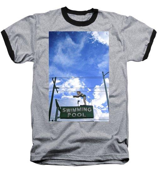 Swim Here Baseball T-Shirt