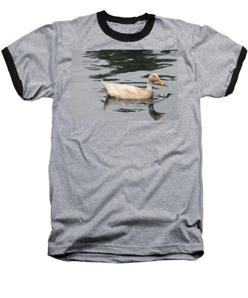 Swimming Duck Baseball T-Shirt by Pamela Walton