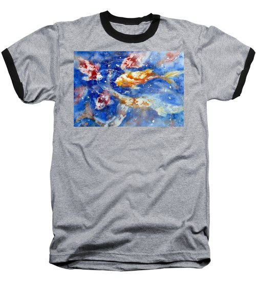 Swimming Koi Fish Baseball T-Shirt