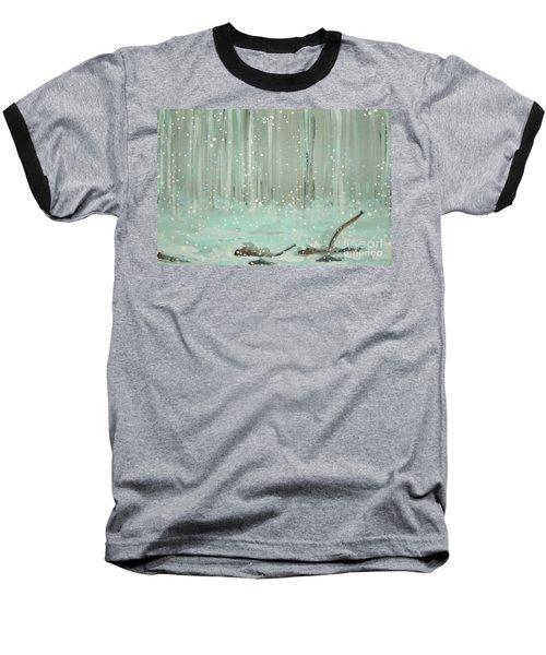 Swimming Leaves Baseball T-Shirt by Marisela Mungia