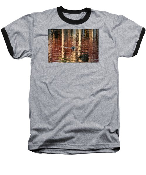 Swimming Over Reflections Baseball T-Shirt