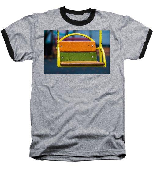 Swinging Rain - Featured 3 Baseball T-Shirt by Alexander Senin