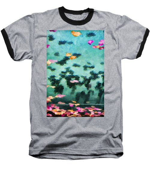 Swirling Leaves And Petals 2 Baseball T-Shirt