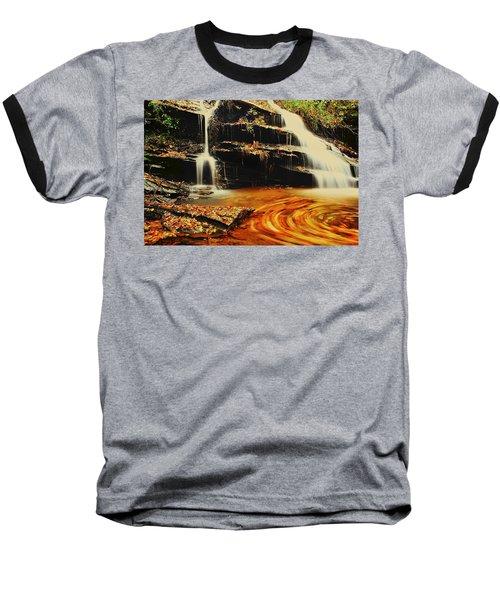 Swirling Leaves Baseball T-Shirt by Rodney Lee Williams