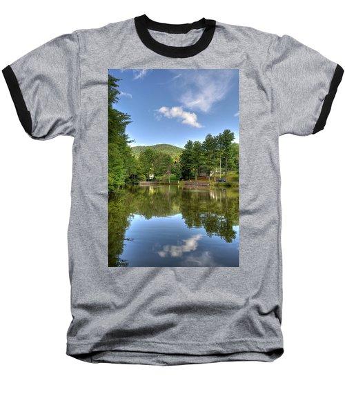 Swiss Mountain Lake Baseball T-Shirt