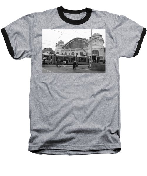 Swiss Railway Station Baseball T-Shirt