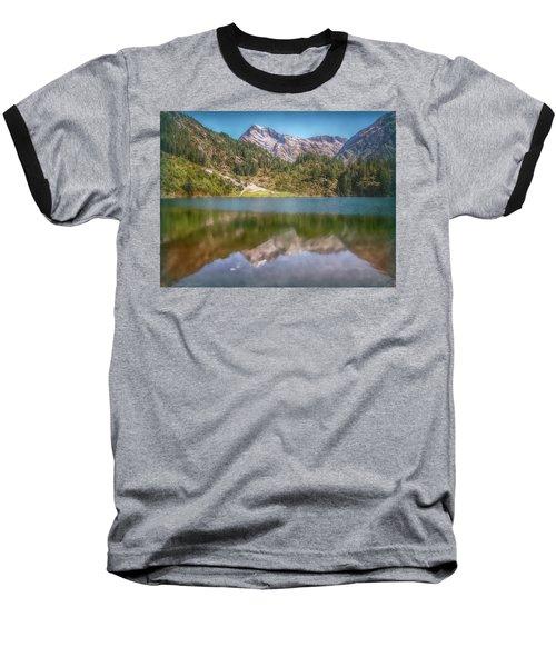 Swiss Tarn Baseball T-Shirt by Hanny Heim