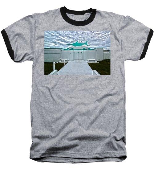 Swordfish Beach Club I Baseball T-Shirt