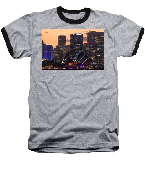 Sydney At Sunset Baseball T-Shirt by Matteo Colombo