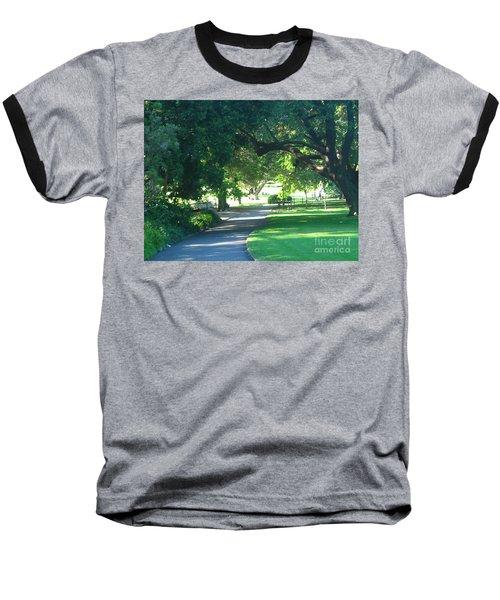 Sydney Botanical Gardens Walk Baseball T-Shirt by Leanne Seymour