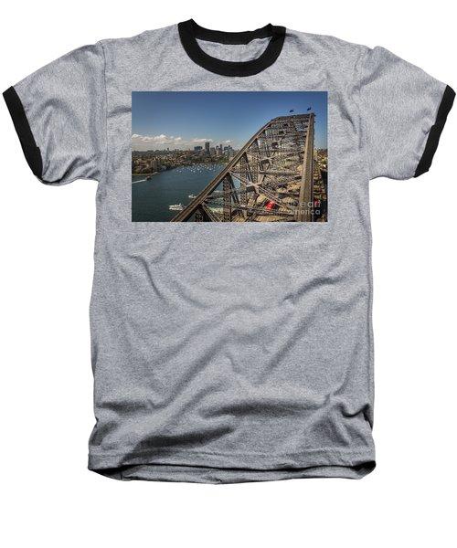 Sydney Harbour Bridge Baseball T-Shirt by Jola Martysz