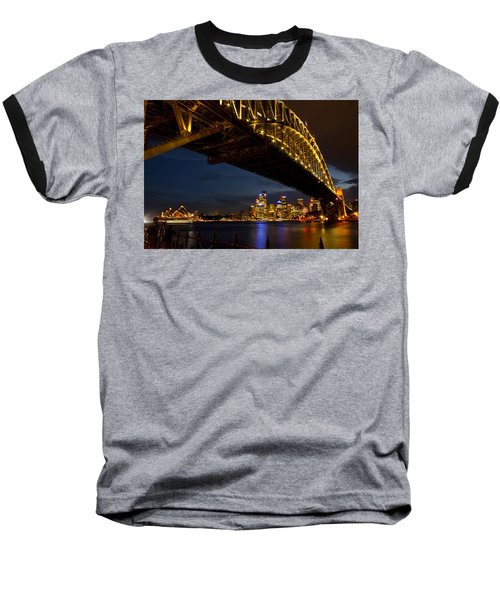 Sydney Harbour Bridge Baseball T-Shirt by Miroslava Jurcik