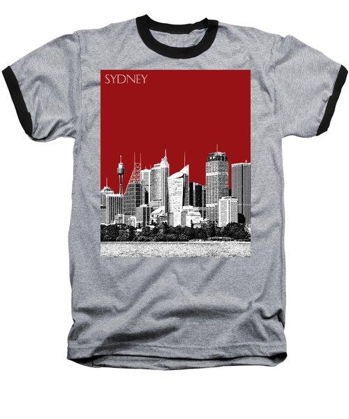 Sydney Skyline 1 - Dark Red Baseball T-Shirt