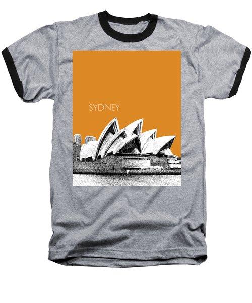 Sydney Skyline 3  Opera House - Dark Orange Baseball T-Shirt