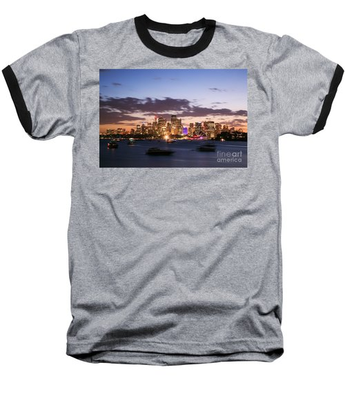 Sydney Skyline At Dusk Australia Baseball T-Shirt by Matteo Colombo