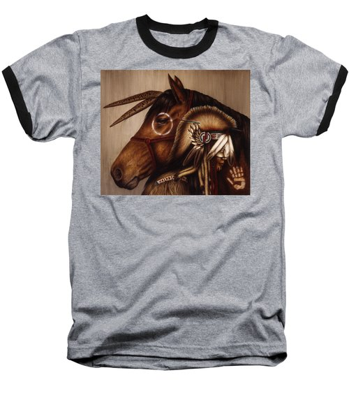 Baseball T-Shirt featuring the painting Symbionts by Pat Erickson