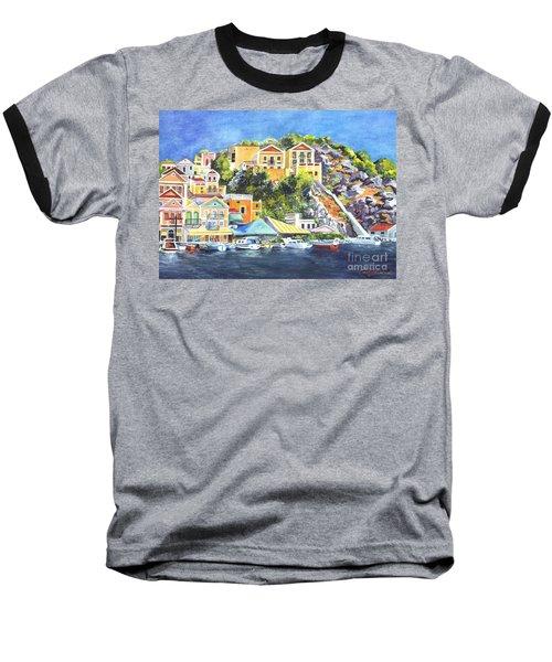 Symi Harbor The Grecian Isle  Baseball T-Shirt