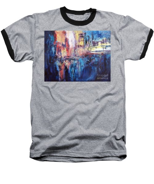 Symphony In Blue Baseball T-Shirt by Valerie Travers