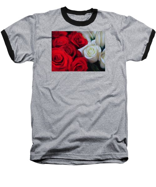 Da143 Symphony In Red And White By Daniel Adams Baseball T-Shirt