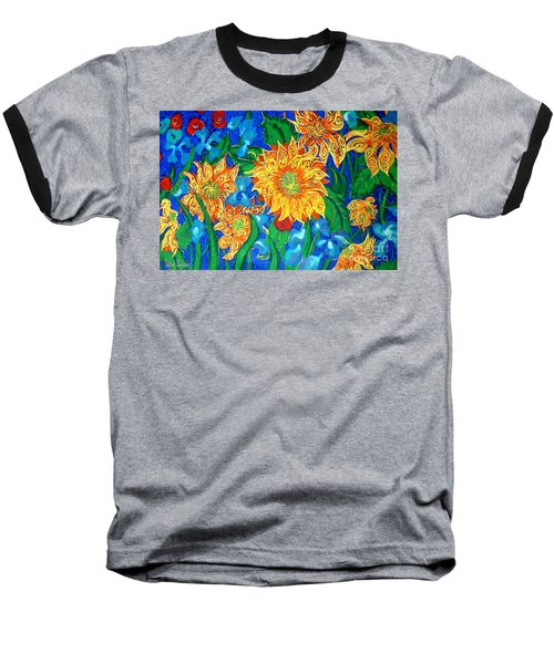 Symphony Of Sunflowers Baseball T-Shirt