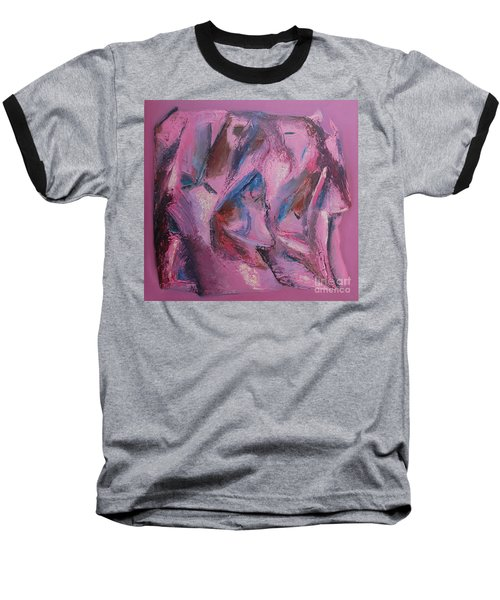 Baseball T-Shirt featuring the painting Syncopation 5 by Mini Arora