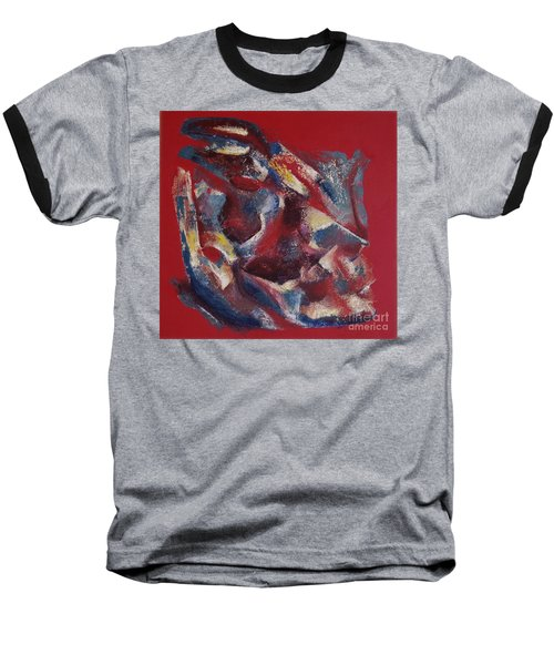 Baseball T-Shirt featuring the painting Syncopation by Mini Arora