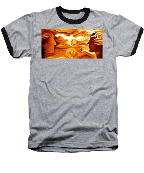 Synergy In Love Baseball T-Shirt by Gem S Visionary