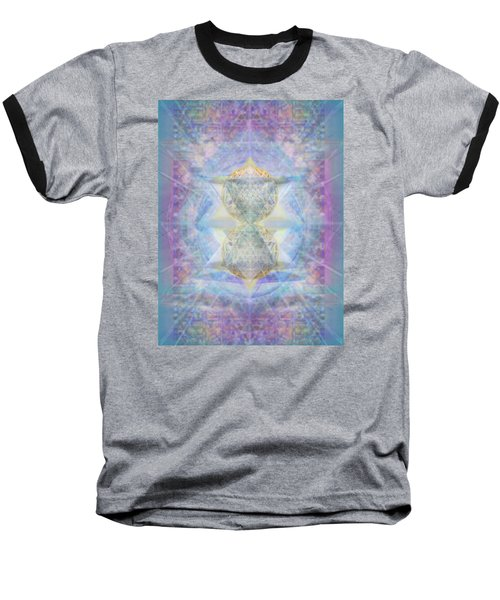 Synthecentered Doublestar Chalice In Blueaurayed Multivortexes On Tapestry Lg Baseball T-Shirt