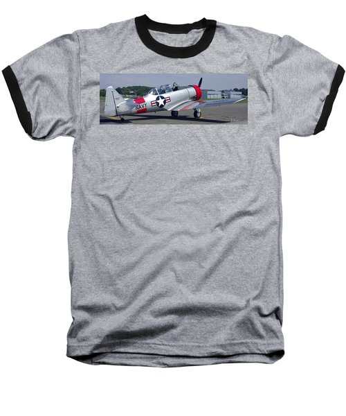 Baseball T-Shirt featuring the photograph T 6 Navy Trainer by James C Thomas