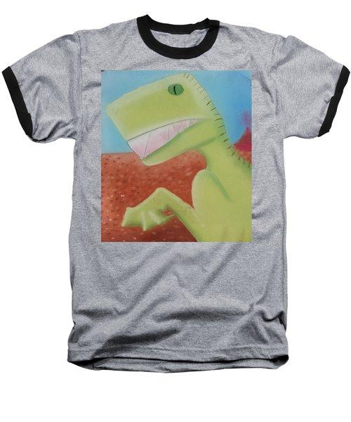 Dinoart Reptillian  Baseball T-Shirt by Joshua Maddison