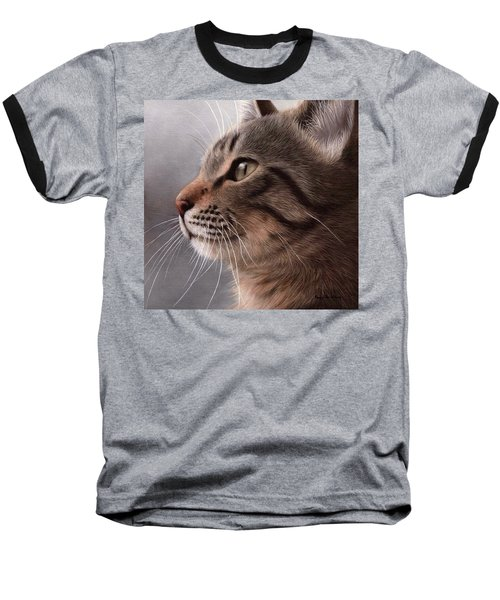 Tabby Cat Painting Baseball T-Shirt