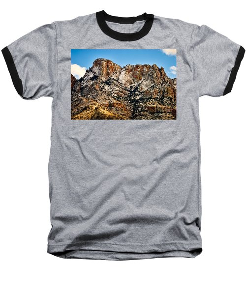 Baseball T-Shirt featuring the photograph Table Mountain In Winter 42 by Mark Myhaver