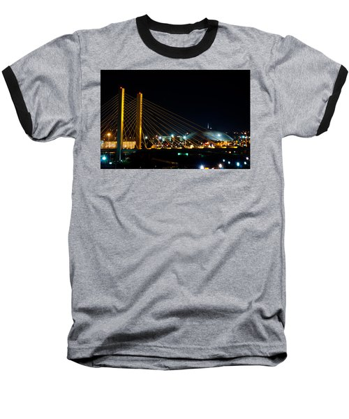 Baseball T-Shirt featuring the photograph Tacoma Dome And Bridge by Tikvah's Hope