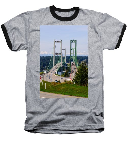 Tacoma Narrows Bridge Baseball T-Shirt