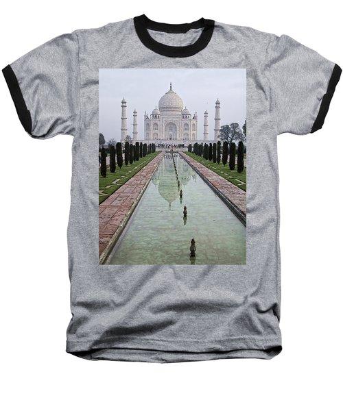 Taj Mahal Early Morning Baseball T-Shirt